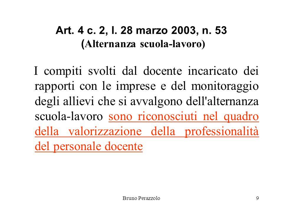 Bruno Perazzolo9 Art. 4 c. 2, l. 28 marzo 2003, n.