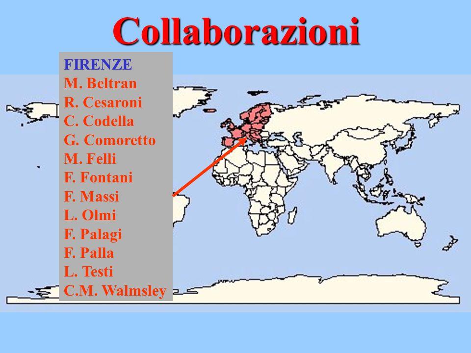 Collaborazioni FIRENZE M. Beltran R. Cesaroni C. Codella G. Comoretto M. Felli F. Fontani F. Massi L. Olmi F. Palagi F. Palla L. Testi C.M. Walmsley