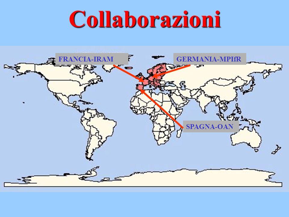 Collaborazioni SPAGNA-OAN GERMANIA-MPIfRFRANCIA-IRAM