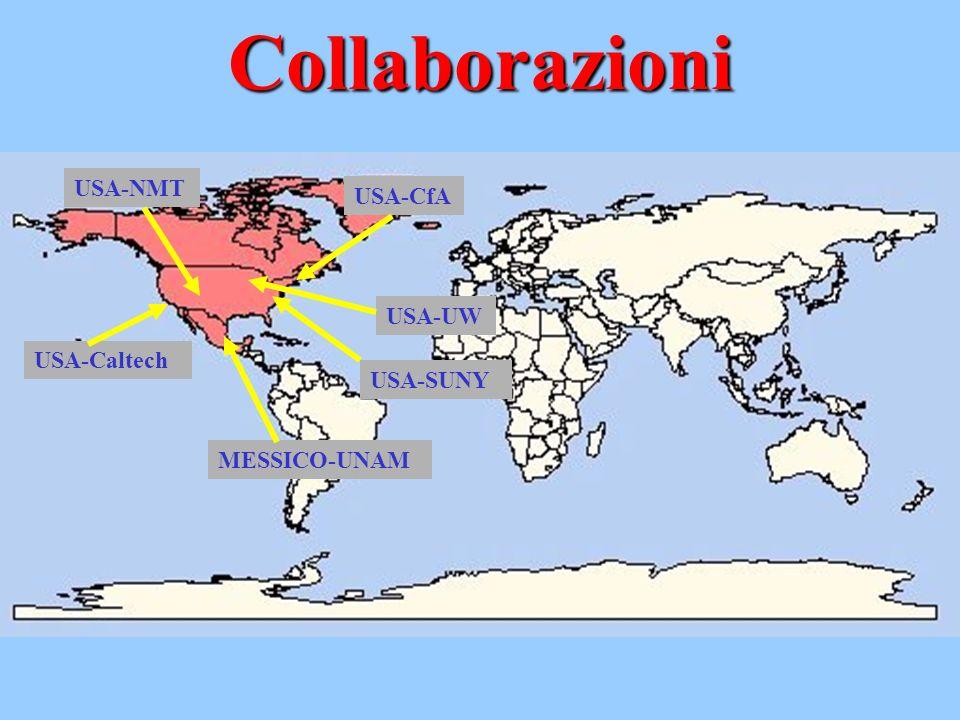 Collaborazioni USA-CfA USA-UW USA-NMT USA-Caltech MESSICO-UNAM USA-SUNY