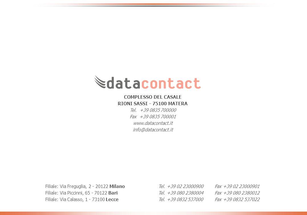 - 30 - Giornata CMMC - ottobre 2005 Ora per quello che lei sa/conosce di Datacontact vorrei chiederle quanto è daccordo con le seguenti affermazioni: