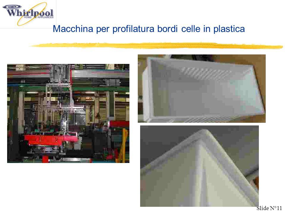 Slide N°11 Macchina per profilatura bordi celle in plastica