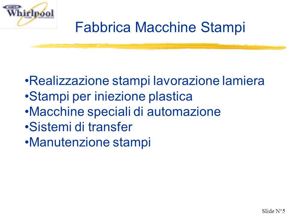 Slide N°5 Fabbrica Macchine Stampi Realizzazione stampi lavorazione lamiera Stampi per iniezione plastica Macchine speciali di automazione Sistemi di transfer Manutenzione stampi