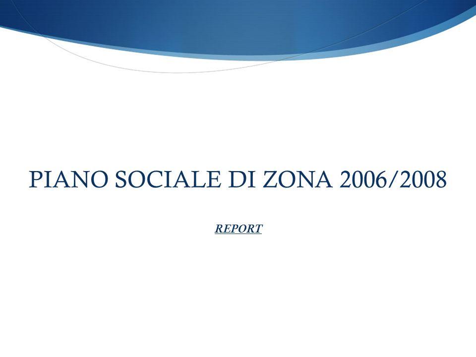 PIANO SOCIALE DI ZONA 2006/2008 REPORT