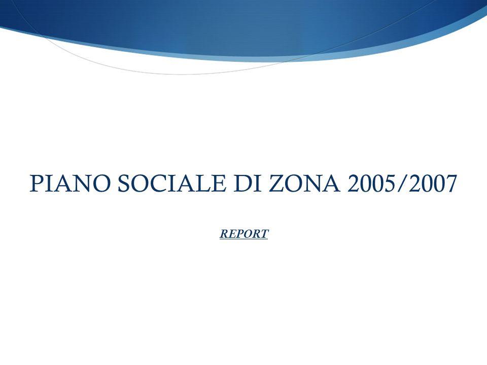 PIANO SOCIALE DI ZONA 2005/2007 REPORT
