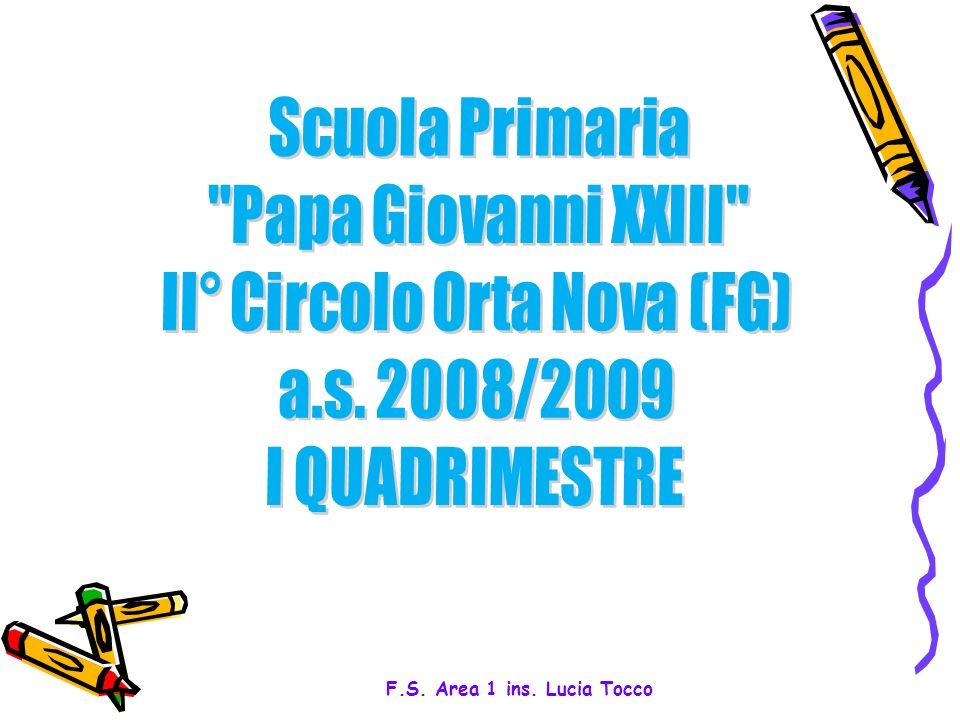 1 F.S. Area 1 ins. Lucia Tocco