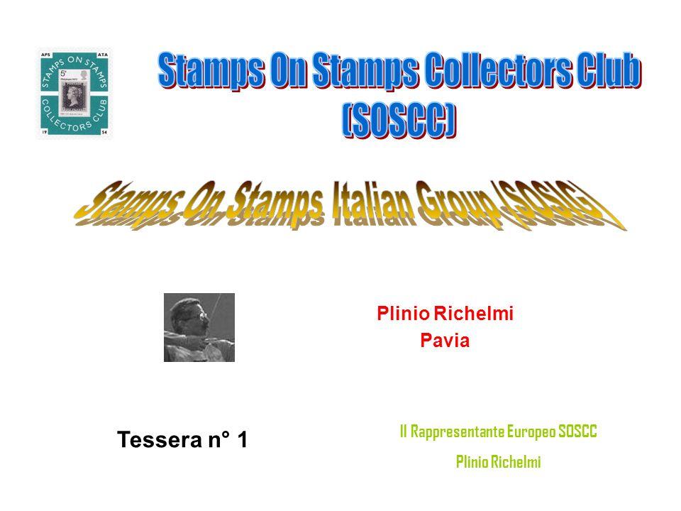 Plinio Richelmi Pavia Tessera n° 1 Il Rappresentante Europeo SOSCC Plinio Richelmi