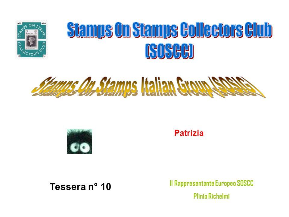 Patrizia Tessera n° 10 Il Rappresentante Europeo SOSCC Plinio Richelmi