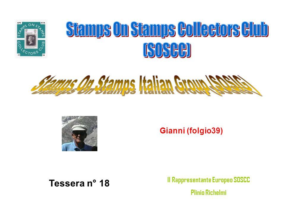 Gianni (folgio39) Tessera n° 18 Il Rappresentante Europeo SOSCC Plinio Richelmi