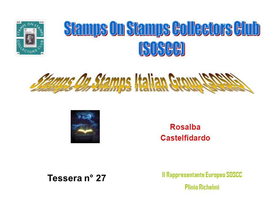 Rosalba Castelfidardo Tessera n° 27 Il Rappresentante Europeo SOSCC Plinio Richelmi