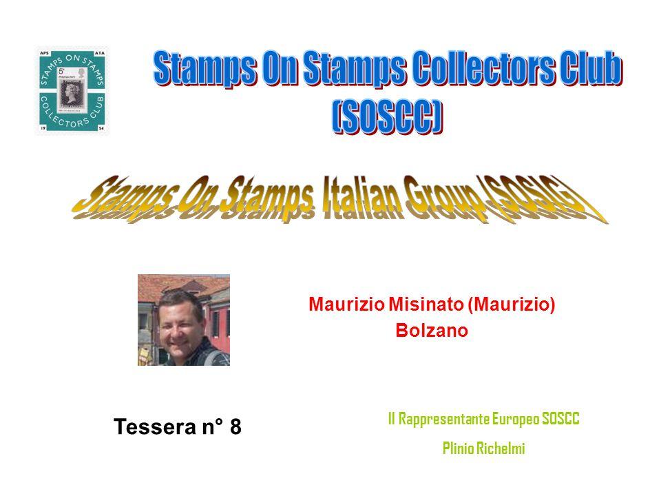 Maurizio Misinato (Maurizio) Bolzano Tessera n° 8 Il Rappresentante Europeo SOSCC Plinio Richelmi