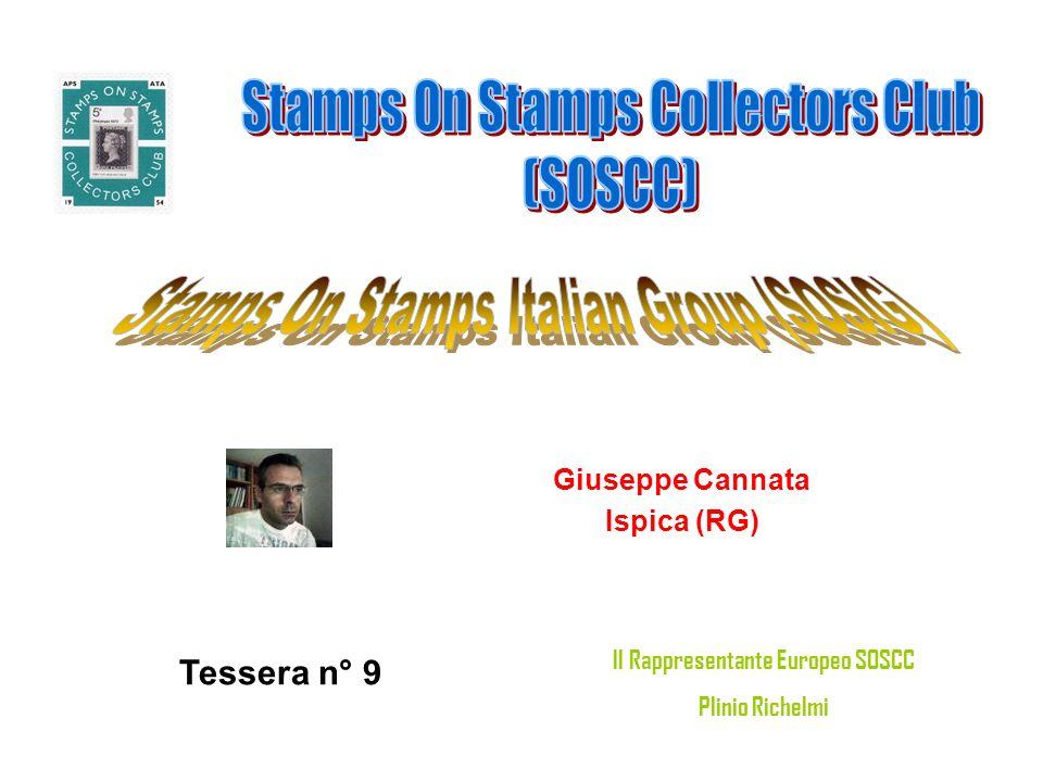 Giuseppe Cannata Ispica (RG) Tessera n° 9 Il Rappresentante Europeo SOSCC Plinio Richelmi