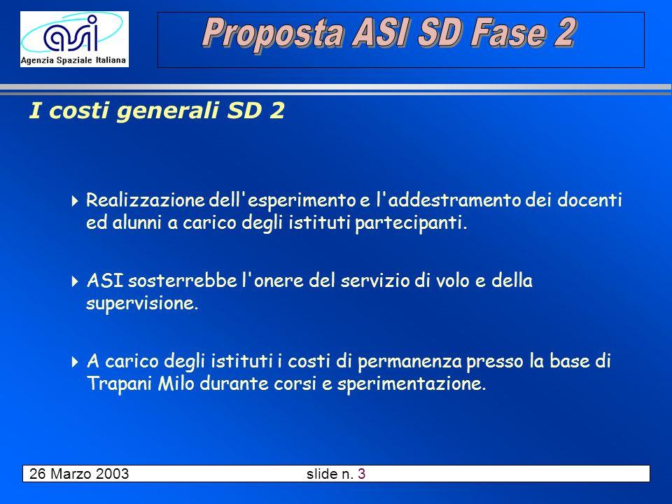 26 Marzo 2003 slide n. 14