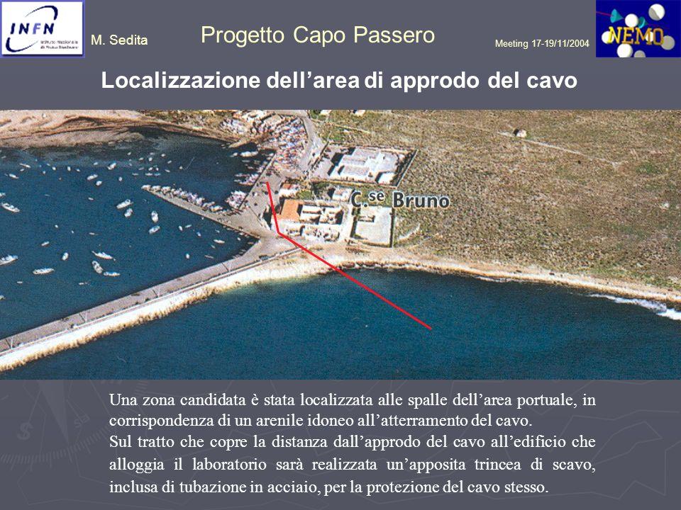 M. Sedita Progetto Capo Passero Meeting 17-19/11/2004 Una zona candidata è stata localizzata alle spalle dellarea portuale, in corrispondenza di un ar