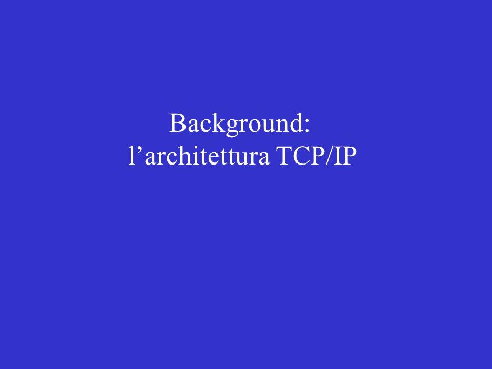 Background: larchitettura TCP/IP