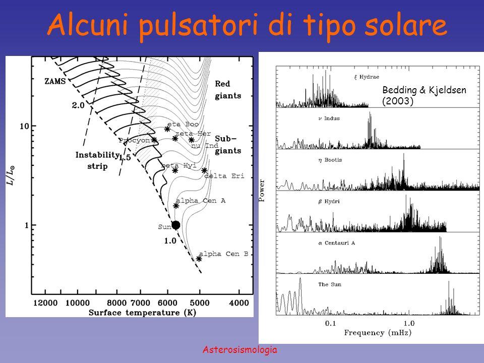 Asterosismologia Bedding & Kjeldsen (2003) Alcuni pulsatori di tipo solare