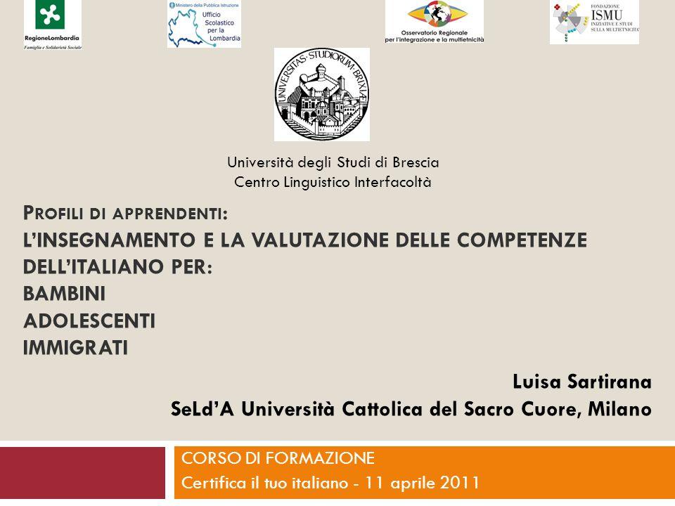 Il Decreto Maroni Art.2 Disposizioni sulla conoscenza della lingua italiana 1.
