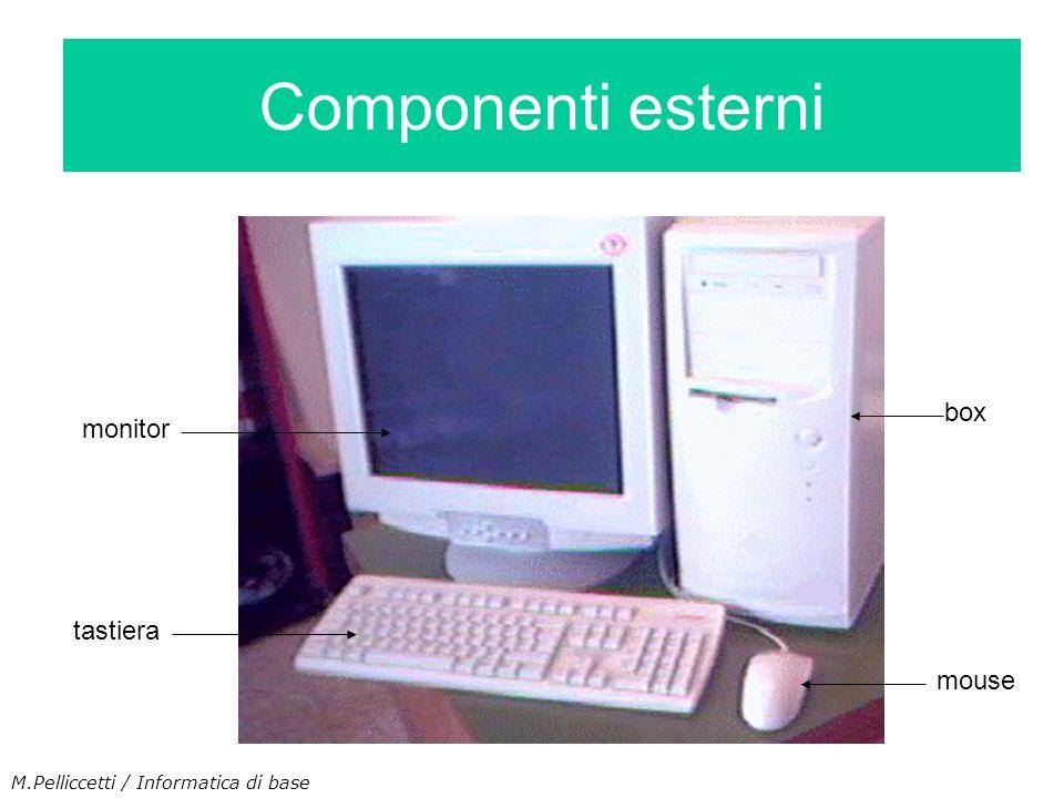 Componenti esterni box monitor tastiera mouse M.Pelliccetti / Informatica di base