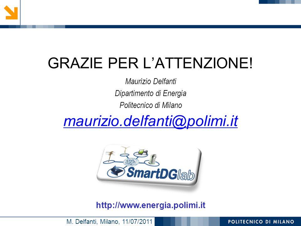 M. Delfanti, Milano, 11/07/2011 GRAZIE PER LATTENZIONE! Maurizio Delfanti Dipartimento di Energia Politecnico di Milano maurizio.delfanti@polimi.it ht
