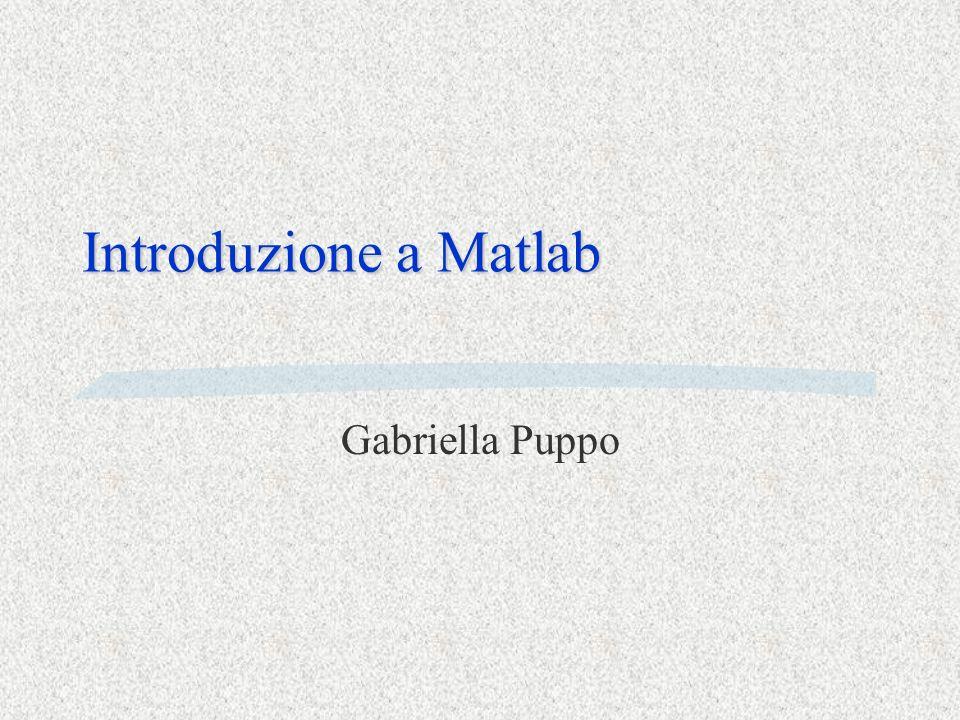 Che cosa è Matlab Matlab è §un linguaggio di programmazione §un ambiente di calcolo scientifico con routines altamente specializzate §un ambiente grafico