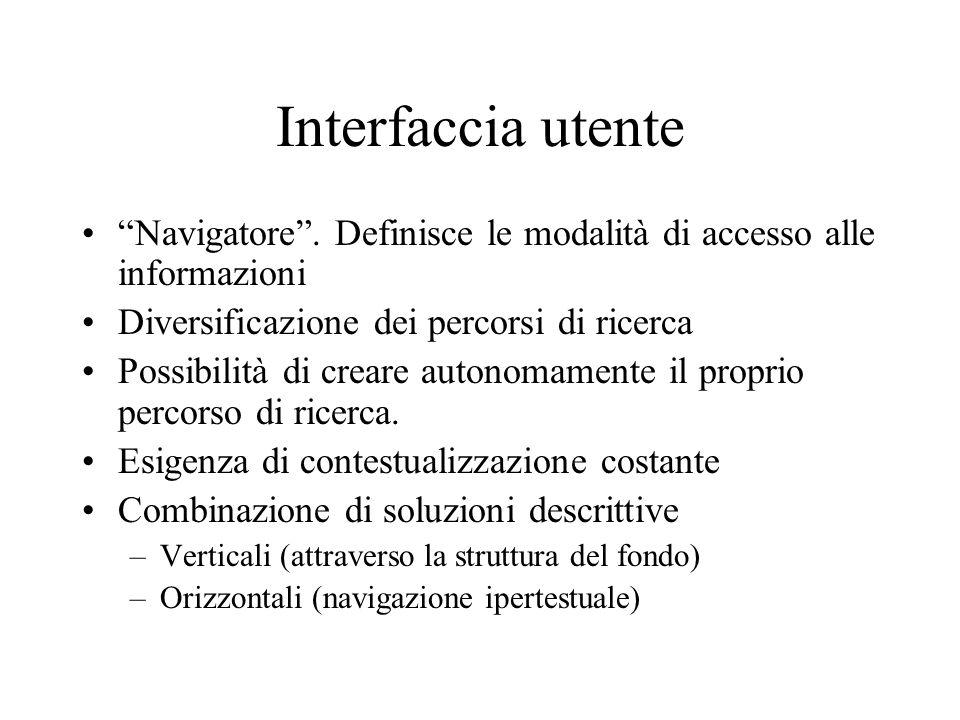 Interfaccia utente Navigatore.