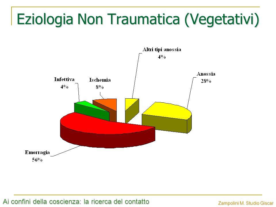 Ai confini della coscienza: la ricerca del contatto Zampolini M. Studio Giscar Eziologia Non Traumatica (Vegetativi)