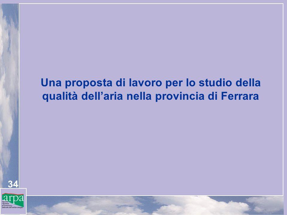 34 Una proposta di lavoro per lo studio della qualità dellaria nella provincia di Ferrara