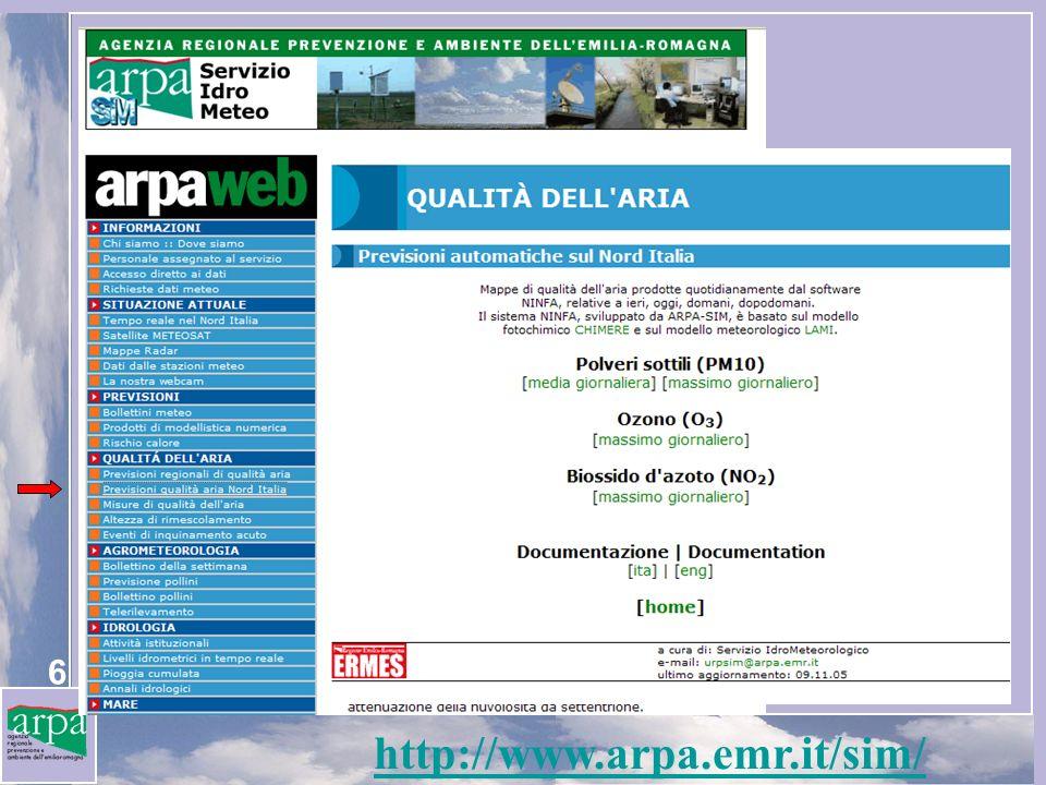 6 http://www.arpa.emr.it/sim/