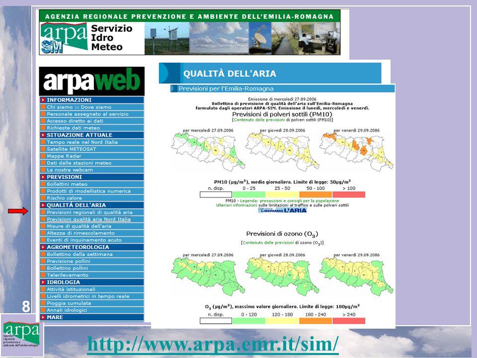 19 Prime conclusioni NINFA produce previsioni quotidiane di qualità dellaria disponibili sul WEB (www.arpa.emr.it/sim).www.arpa.emr.it/sim NINFA è stato usato per eseguire una valutazione della qualità dellaria sulla pianura padana, una delle zone più intensamente inquinate in Europa.