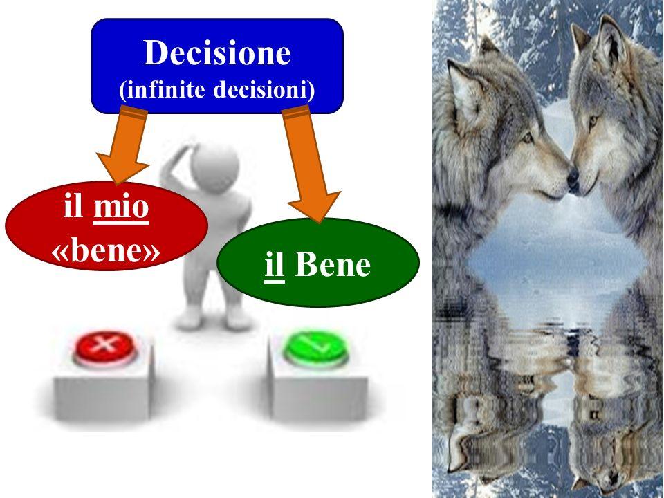 Decisione (infinite decisioni) il mio «bene» il Bene