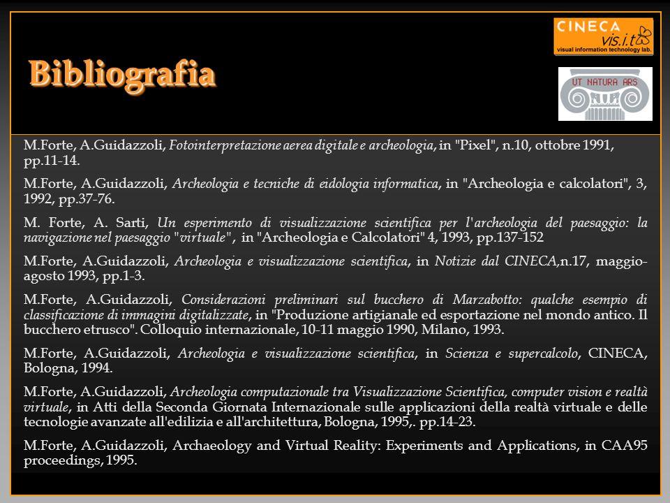 BibliografiaBibliografia M.Forte, A.Guidazzoli, Fotointerpretazione aerea digitale e archeologia, in