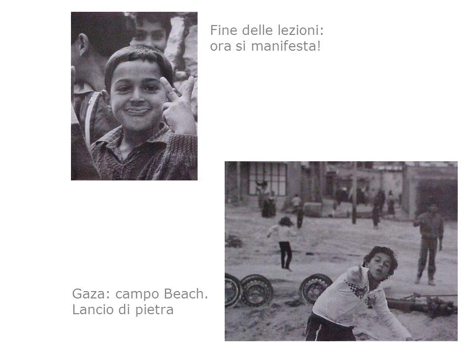 Fine delle lezioni: ora si manifesta! Gaza: campo Beach. Lancio di pietra