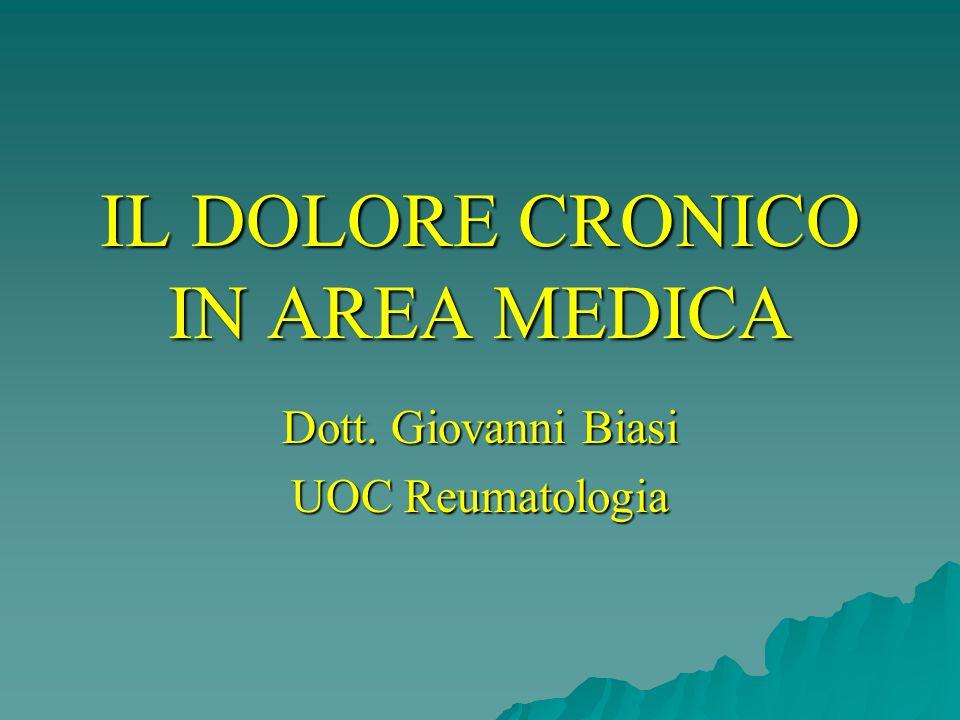 IL DOLORE CRONICO IN AREA MEDICA Dott. Giovanni Biasi UOC Reumatologia