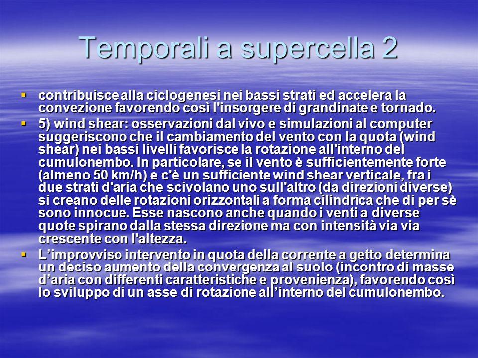 Temporali a supercella 2 contribuisce alla ciclogenesi nei bassi strati ed accelera la convezione favorendo così l'insorgere di grandinate e tornado.