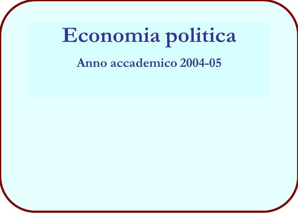 32 Economia - Consumatore (novembre 2004) Corso di Economia Politica
