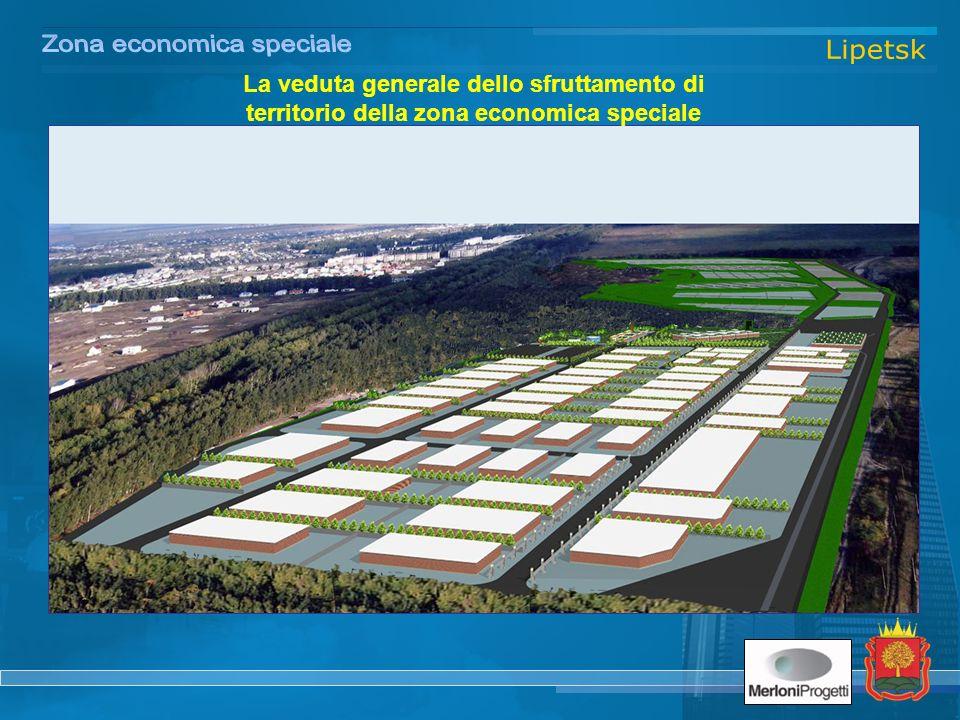 La veduta generale dello sfruttamento di territorio della zona economica speciale