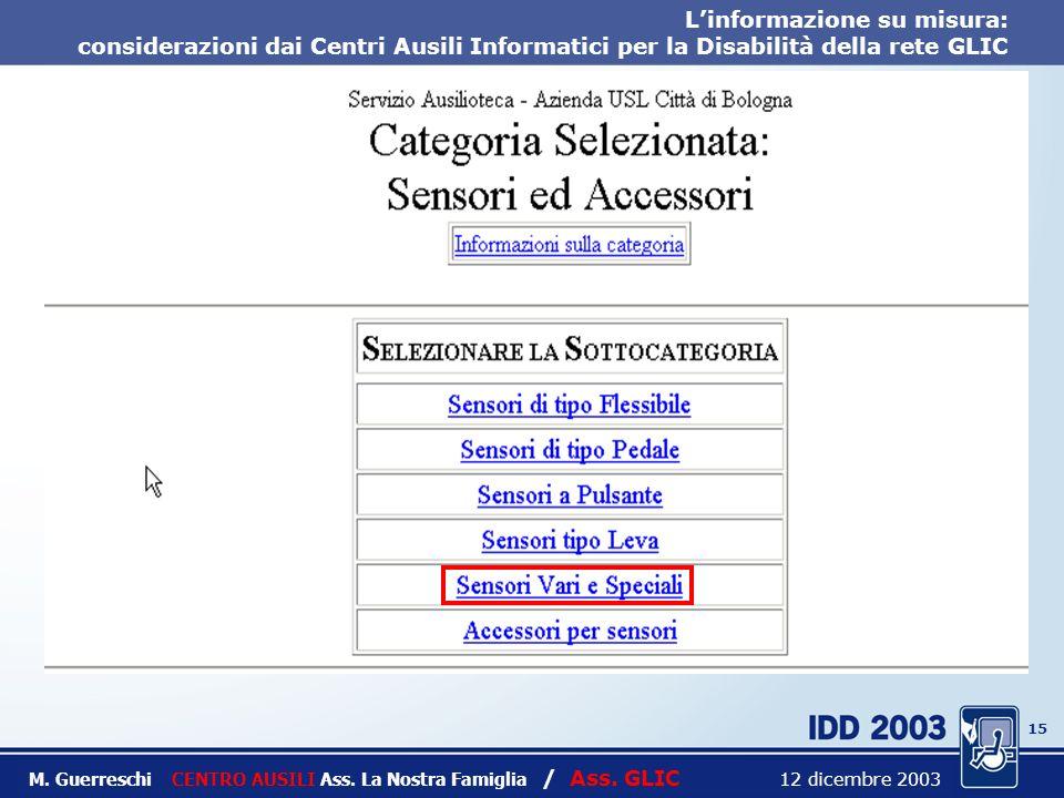 14 Titolo intervento M. Guerreschi CENTRO AUSILI Ass.