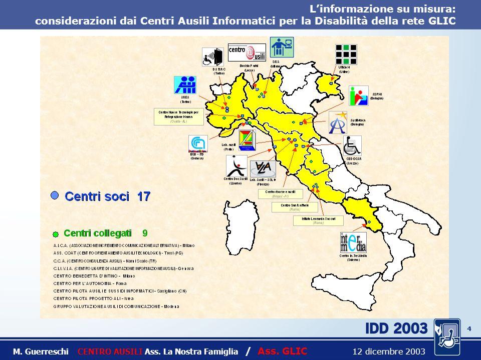 3 Titolo intervento M. Guerreschi CENTRO AUSILI Ass.