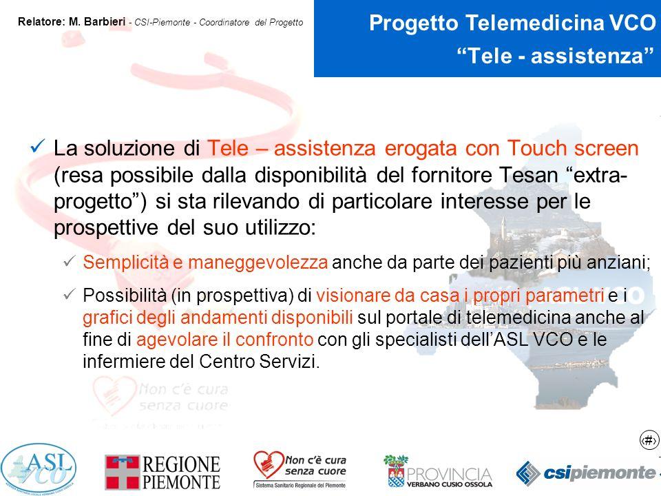 17 Progetto Telemedicina VCO Relatore: M.