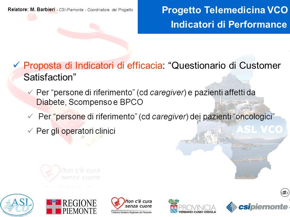 20 Progetto Telemedicina VCO Relatore: M.