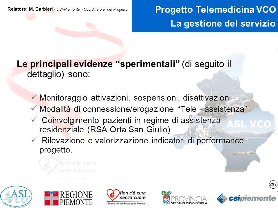 7 Progetto Telemedicina VCO Relatore: M.