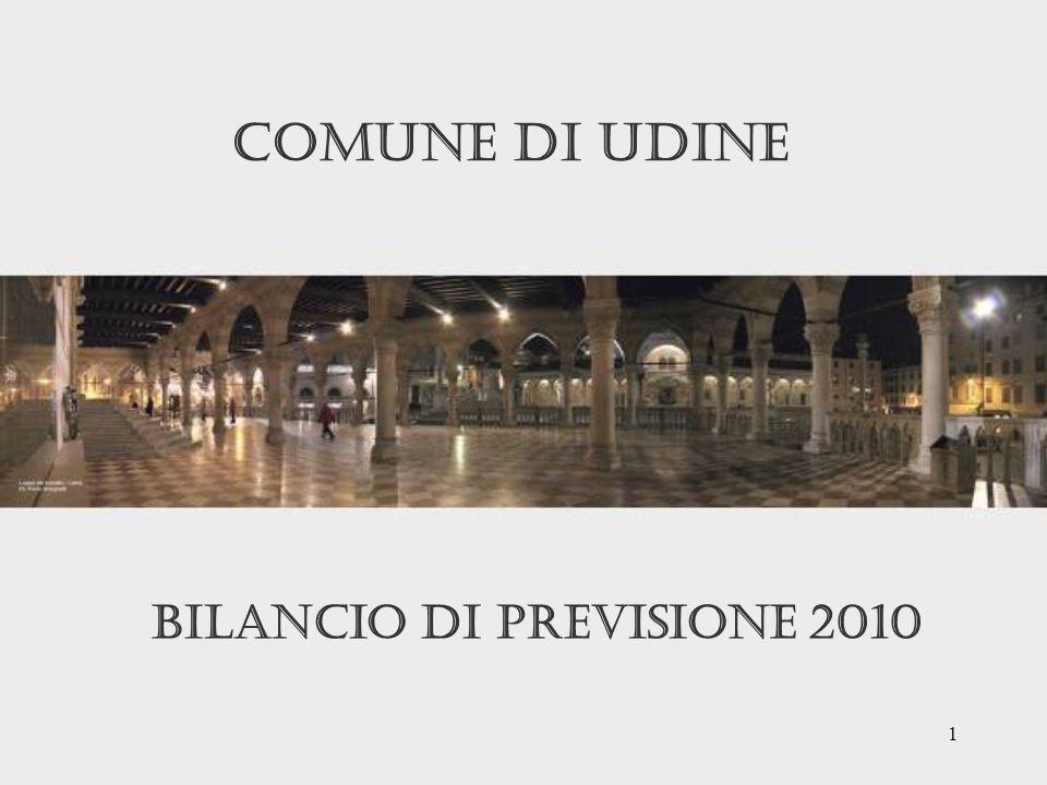 1 Bilancio di Previsione 2010 Comune di udine