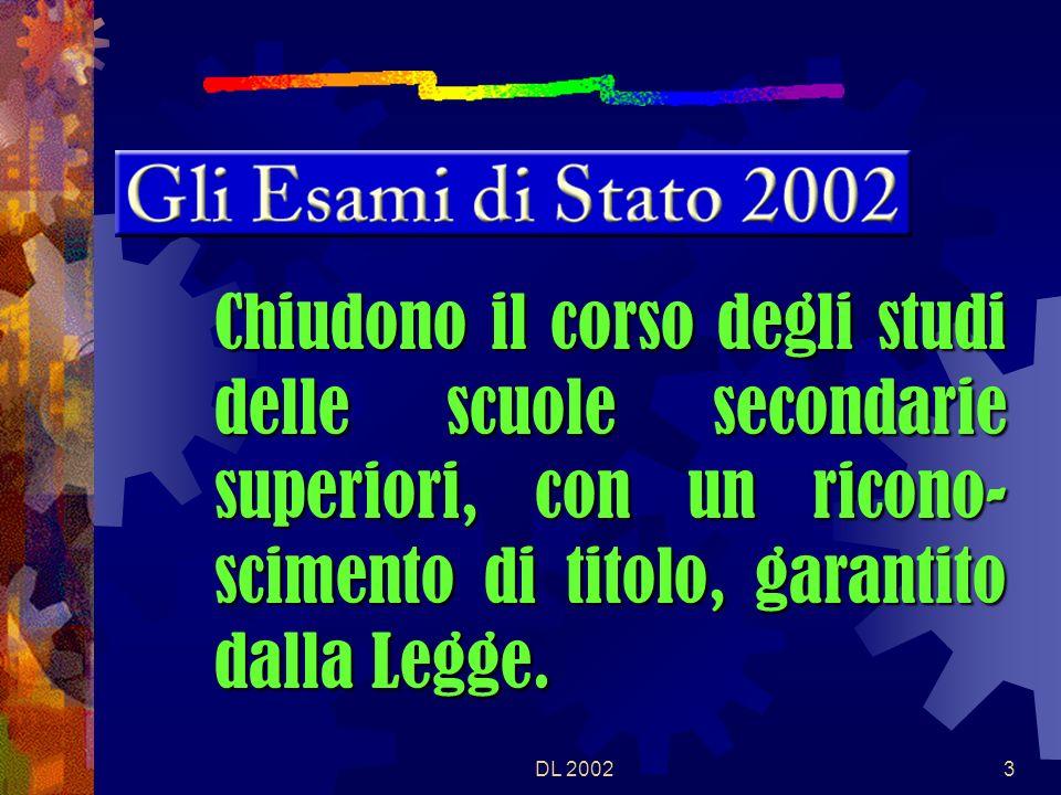 DL 200213 E SEDE DI ESAME, PER I CANDIDATI INTERNI E DELLE SCUOLE PARITARIE, LISTITUTO FREQUENTATO