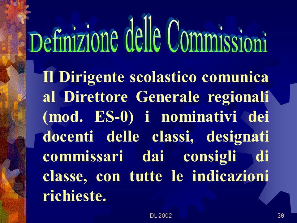 DL 200235 I candidati esterni vanno ripartiti tra le diverse classi dellistituto procurando che il loro numero massimo per ciascuna classe non superi il 50% dei candidati interni.