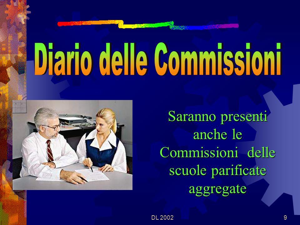 DL 20028 Tutte le Commissioni della scuola si riuniranno, in seduta congiunta preliminare, con il Presidente, alle ore 8,30 del 17 giugno 2002