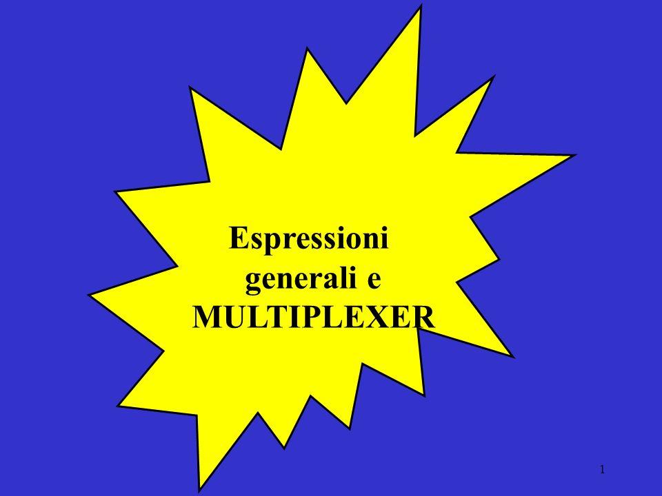 1 Espressioni generali e MULTIPLEXER