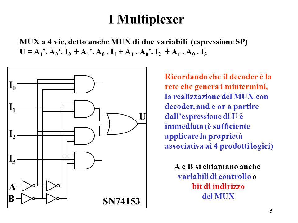 4 La rete basata sullespressione generale (caso SP) F(0) F(1) F(2 n -1) x 1 x 2 xnxn F F(x 1,x 2,...x i,..x n ) = m(i) F(i). i=0 2 n -1Espressione in