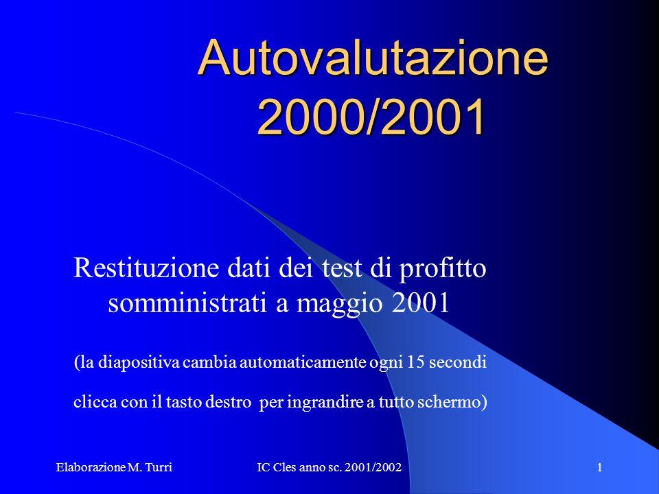 Elaborazione M. TurriIC Cles anno sc. 2001/200211 Lettera SE