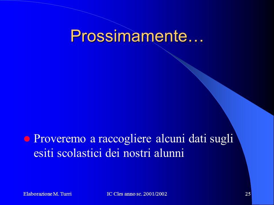 Elaborazione M. TurriIC Cles anno sc. 2001/200224 Lingue Straniere 3B SM