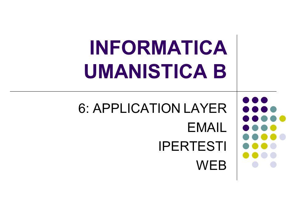 URL PER HTTP Forma generale: scheme://host:port/path?parameter=value#anchor Esempi: http://www.unitn.it/ http://www.dit.unitn.it/~poesio/Teach/IU http://www.google.it/search?hl=it&q=URL